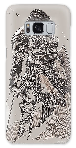 Hero Galaxy Case - Futuristic Knight With by Tithi Luadthong