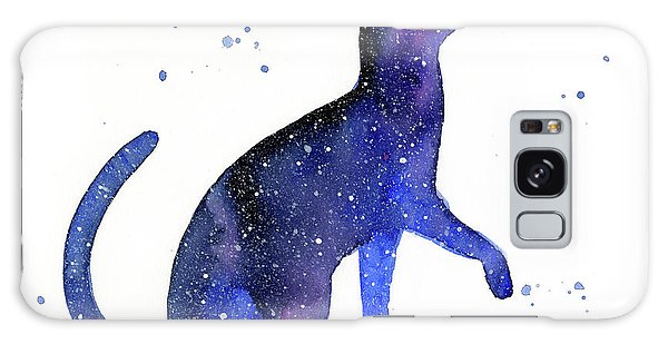 Galaxy Galaxy Case - Galaxy Cat by Olga Shvartsur