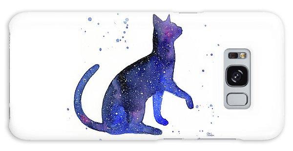 Outer Space Galaxy Case - Galaxy Cat by Olga Shvartsur