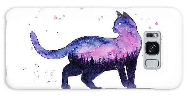 Outer Space Galaxy Case - Galaxy Forest Cat by Olga Shvartsur