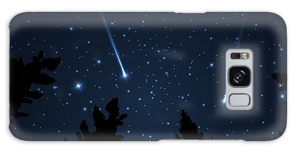 Milky Way Galaxy Case - Galaxy With Framed With Pine Trees by Acid2728k