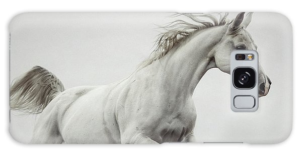 Galaxy Case featuring the photograph Galloping White Horse by Dimitar Hristov