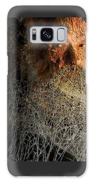 Galaxy Case featuring the digital art Gandalf - Cobwebby Self-portrait by Attila Meszlenyi