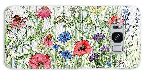 Garden Flower Medley Watercolor Galaxy Case