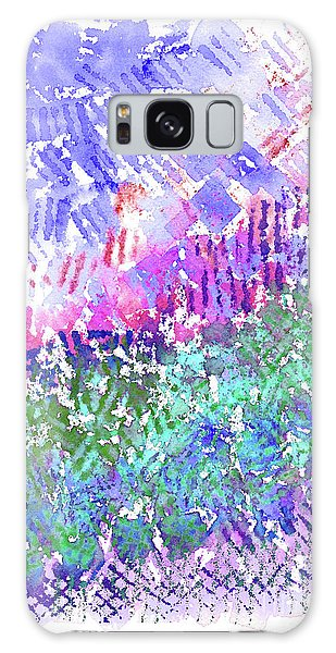 Garden Of Purple And Green Galaxy Case