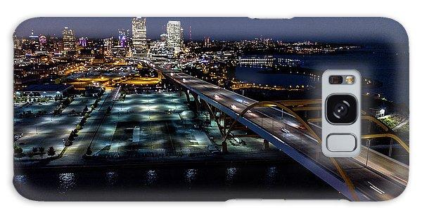 Galaxy Case featuring the photograph Gateway To Milwaukee by Randy Scherkenbach