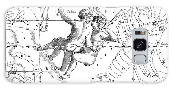Whip Galaxy Case - Gemini Engraving From A Celestial Atlas  by Johann Hevelius