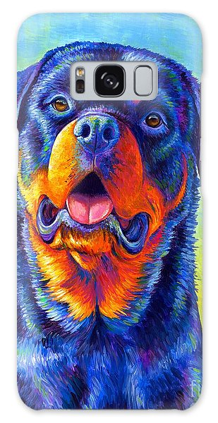 Gentle Guardian Colorful Rottweiler Dog Galaxy Case