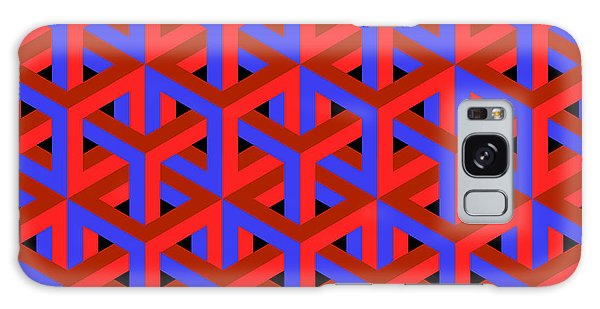Fractal Design Galaxy Case - Geometric Optical Art Background In Red by Jkerrigan