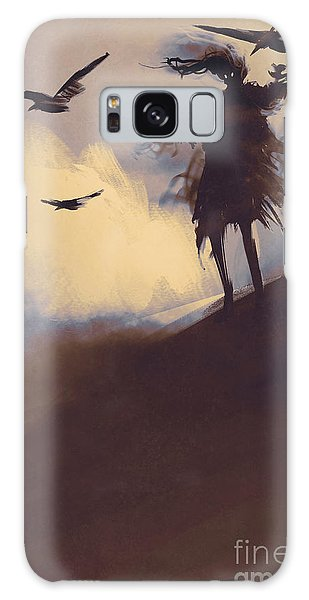 Death Galaxy Case - Ghost With Flying Crows In The by Tithi Luadthong