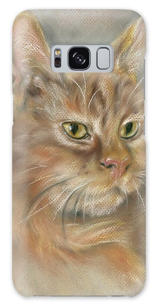 Ginger Tabby Cat With Black And White Whiskers Galaxy Case