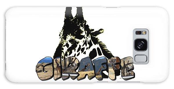 Giraffe Big Letter Galaxy Case