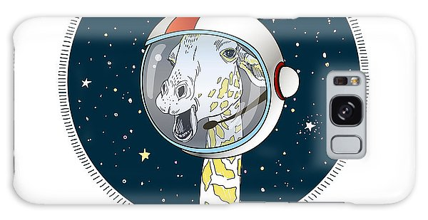 Outer Space Galaxy Case - Giraffe In Outer Space, Hand Drawn by Olga angelloz