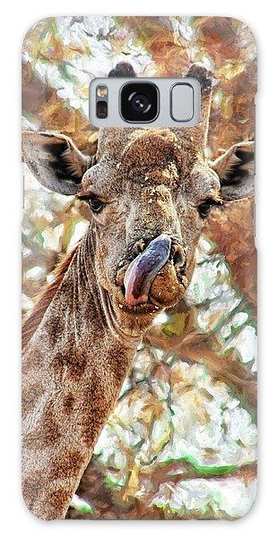 Giraffe Says Yum Galaxy Case