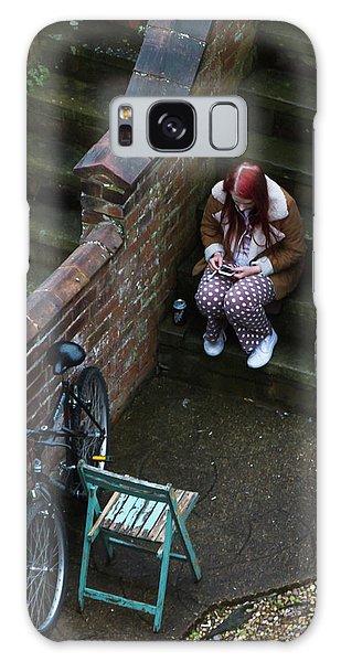 Girl On A Phone Galaxy Case