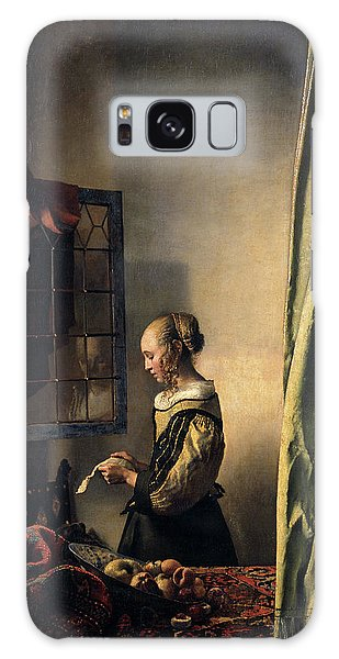 Vermeer Galaxy Case - Girl Reading A Letter By An Open Window, 1659 by Jan Vermeer