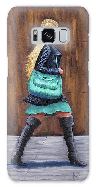 Girl Walking Galaxy Case