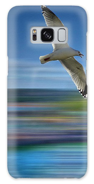 Galaxy Case featuring the photograph Gull Flight #192 by Edmund Nagele