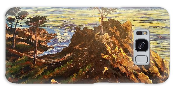 Galaxy Case featuring the painting Glorious Sunset by Ray Khalife