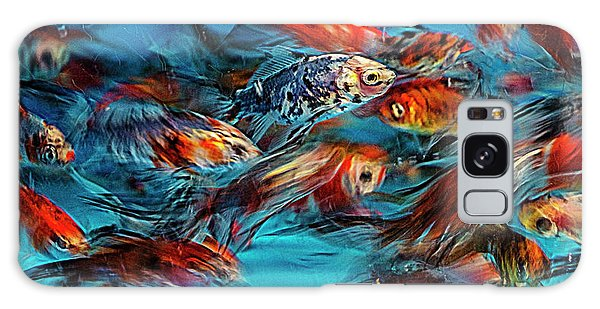 Gold Fish Abstract Galaxy Case