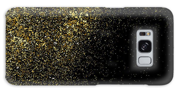 Glow Galaxy Case - Gold Glitter Texture On A Black by Sergio34