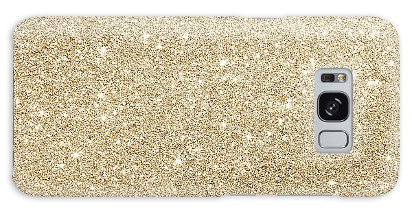 Gold Glitter Galaxy Case
