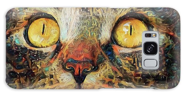 Golden Eyes Dreaming Galaxy Case
