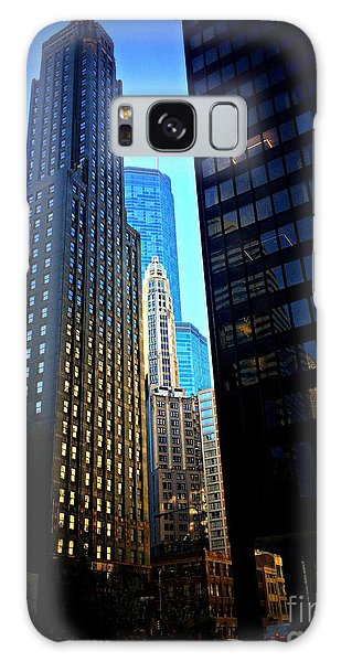 Golden Hour Reflections - City Of Chicago Galaxy Case