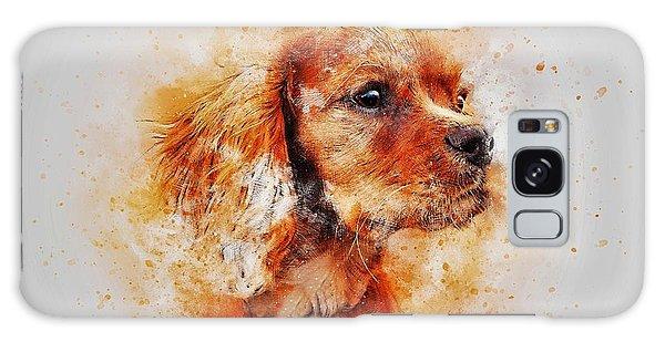 Watercolor Pet Portraits Galaxy Case - Dachshund by ArtMarketJapan