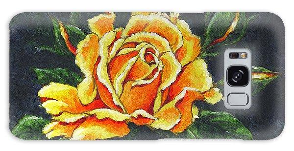 Golden Rose Sketch Galaxy Case