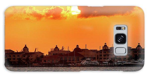 Golden Sky In Cancun Galaxy Case