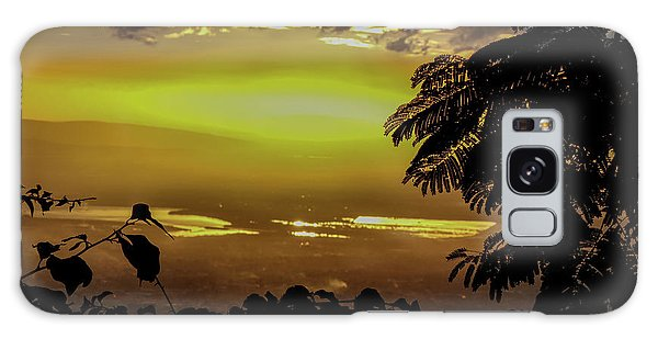 Golden Sunset On Strawberry Hill Galaxy Case
