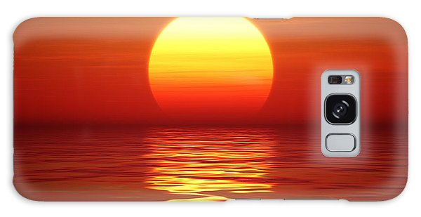 Reflections Galaxy Case - Golden Sunset Over Calm Water Digital by Johan Swanepoel