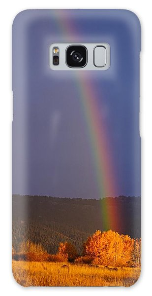 Golden Tree Rainbow Galaxy Case