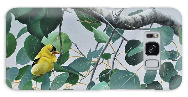 Goldfinch And Aspen Galaxy Case