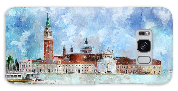 Gondola Rides And San Giorgio Di Maggiore In Venice Galaxy Case