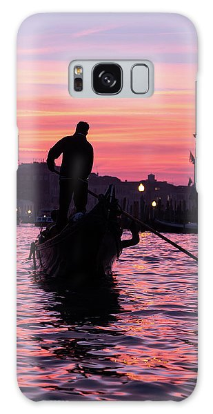Gondolier At Sunset Galaxy Case