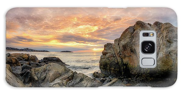 Galaxy Case featuring the photograph Good Harbor Rock View 1 by Michael Hubley