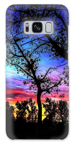 Good Night Leaves In Fall Galaxy Case
