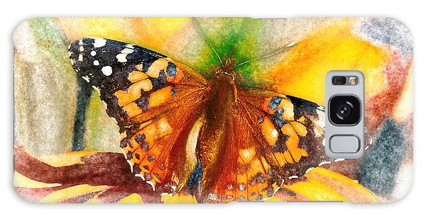 Gorgeous Painted Lady Butterfly Galaxy Case