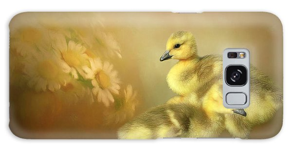 Gosling Galaxy Case - Goslings And Daisies by Donna Kennedy