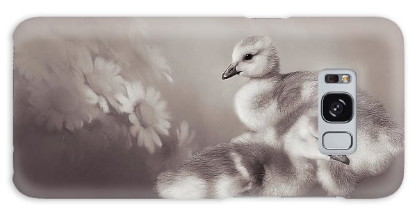 Gosling Galaxy Case - Goslings And Daisies - Sepia by Donna Kennedy
