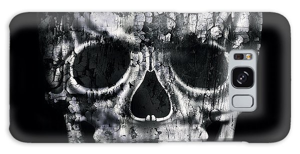 Nightmare Galaxy Case - Gothic Image Of A Human Skull In Black by Valentina Photos
