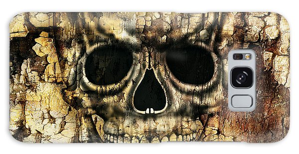 Metal Galaxy Case - Gothic Image Of A Human Skull by Valentina Photos