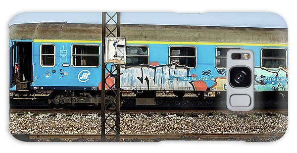 Graffitied Train Galaxy Case