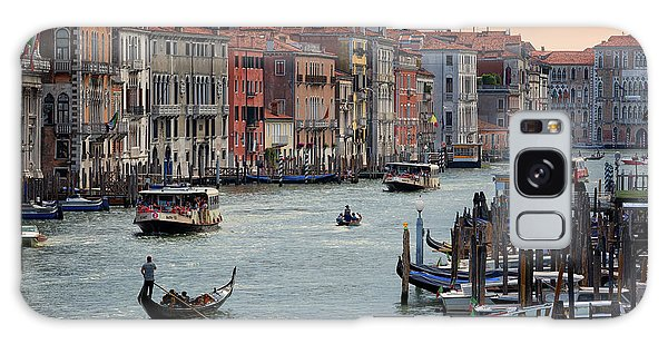Grand Canal Gondolier Venice Italy Sunset Galaxy Case