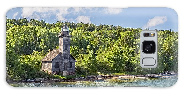 Grand Island East Channel Lighthouse Galaxy Case