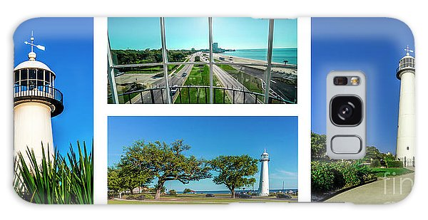 Grand Old Lighthouse Biloxi Ms Collage A1a Galaxy Case