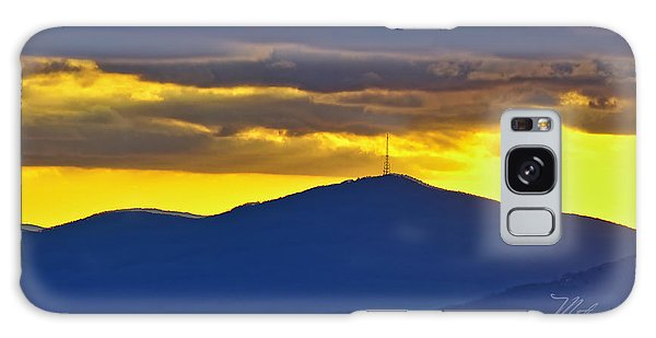 Grandmother Mountain Sunset Galaxy Case