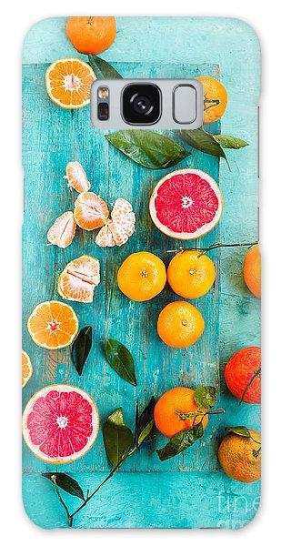 Tasty Galaxy Case - Grapefruit, Mandarin, Clementine Sliced by Casanisa